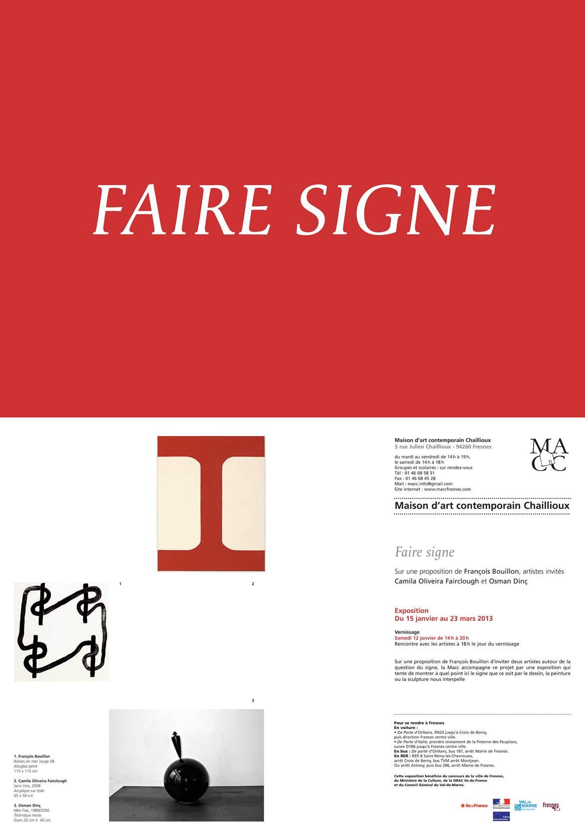 Exposition Faire Signe